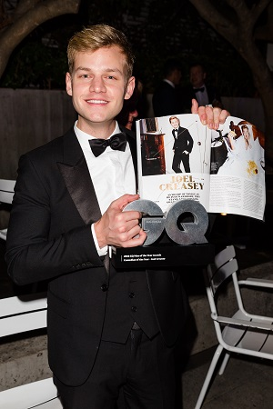 Joel Creasey at the 2016 GQ Men of the Year Awards - photography by James Ambrose