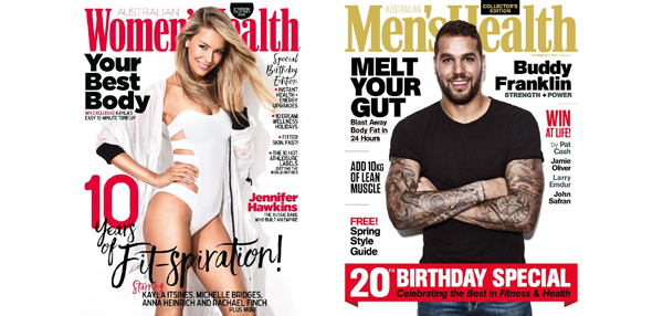 Australia's latest health trends revealed as Men's & Women's Health celebrate….