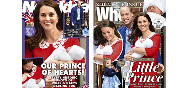 Who and New Idea royal baby