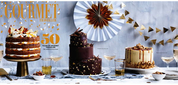 Gourmet Traveller celebrates 50years with biggest ever issue