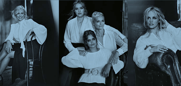 Marie Claire white shirt campaign